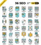 SEO - iconos de la optimización del Search Engine ilustración del vector