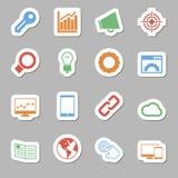 Seo Icons als Labes Lizenzfreies Stockfoto