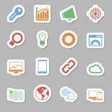 Seo Icons as Labes Royalty Free Stock Photo