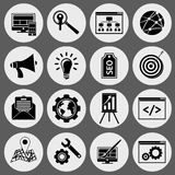 SEO icons black set Stock Photography