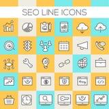 SEO Icons Collection in-linea Immagine Stock Libera da Diritti