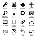 Seo Icons Royalty Free Stock Photography