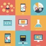 Seo Icons Flat Stock Image