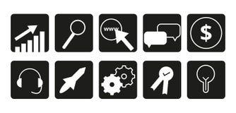 SEO Icons | Icônes propres et modernes | Icônes de site Web Illustration Libre de Droits