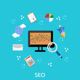 SEO Icons Poster royalty free illustration