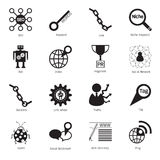 SEO icons. Search engine optimization icons stock illustration