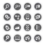 SEO icons, search engine optimization Stock Photo