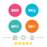 SEO icons. Search Engine Optimization symbols. Royalty Free Stock Image