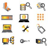 SEO icons Royalty Free Stock Images