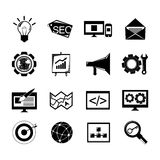 SEO icons set black Stock Image