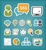 SEO icons set Stock Photos