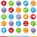 SEO icons set 04F Royalty Free Stock Images