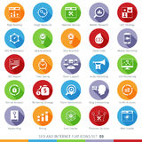 SEO icons set 03F Royalty Free Stock Images