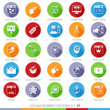 SEO icons set 01F Royalty Free Stock Photography