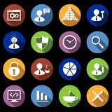 SEO Icons Set Flat Images libres de droits