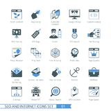 SEO icons set 01 Stock Photo