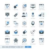 SEO icons set 01. SEO internet and development icon set 01 royalty free illustration