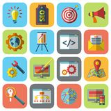SEO icons set Stock Photography