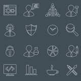 SEO icons set outline Royalty Free Stock Images