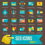SEO icons set part 1 Royalty Free Stock Photos