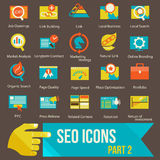 SEO icons set part 2 Royalty Free Stock Images