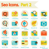 SEO icons set part 2 Stock Photography