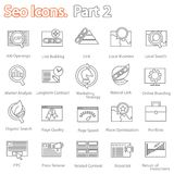 SEO icons set part 2 Royalty Free Stock Photos