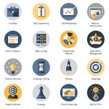 Seo Icons Set Stock Image