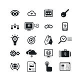 SEO icons set. Vector illustration Royalty Free Stock Photos