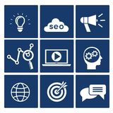 SEO icons set Royalty Free Stock Images