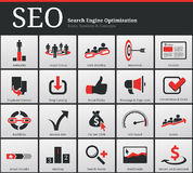 SEO Icons and Symbols Royalty Free Stock Images