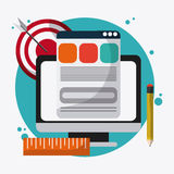 SEO icons, technology related, illustration vector illustration