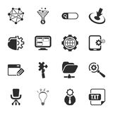 SEO 16 icons universal set for web and mobile Stock Photos