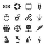 SEO 16 icons universal set for web and mobile. 16 icons universal set for web and mobile flat Stock Images