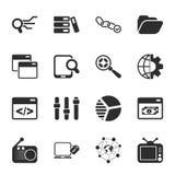 SEO 16 icons universal set for web and mobile. 16 icons universal set for web and mobile flat Stock Photos