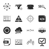 SEO 16 icons universal set for web and mobile vector illustration