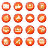 SEO icons vector set Royalty Free Stock Photos