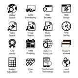 Seo Icons Vol 3 Stockfotografie