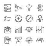 SEO ikona ustawia 2 ilustracja wektor
