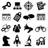 SEO ikony Biznesowy set Zdjęcie Stock