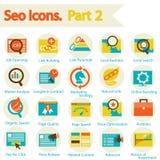SEO ikony ustawiają część 2 royalty ilustracja