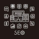 SEO Infographic Photos libres de droits