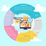 SEO Infographic Diagram Photographie stock libre de droits