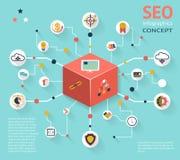 SEO Infographic Icon Concept Royalty Free Stock Photos