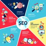 Seo Infographic Set Stock Photography