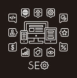 SEO infographic Royalty Free Stock Photos