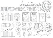 SEO Infographics Στοκ φωτογραφία με δικαίωμα ελεύθερης χρήσης