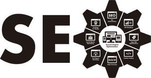 SEO Infographics Fotografía de archivo