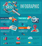 Seo Infographics Set Royalty Free Stock Photography