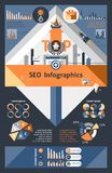 Seo Infographics Set Stock Photos